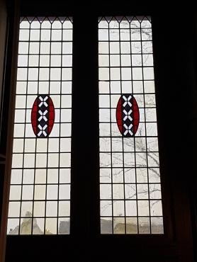 glas-in-lood wapen van Amsterdam