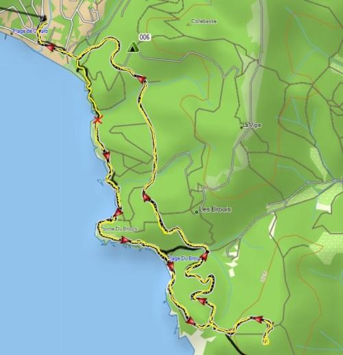 hoe ver het was (plm 8km)