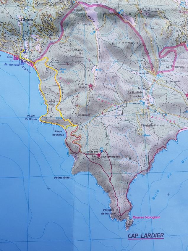 zoekplaatje: geel is onze route