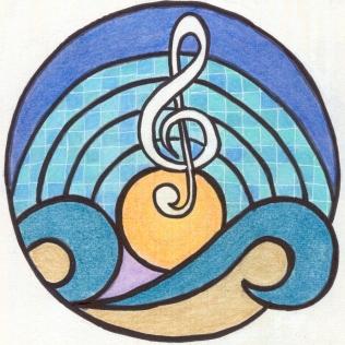 muziek, zee en zwembad
