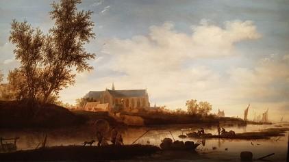 Ruysdael zicht op de Grote Kerk